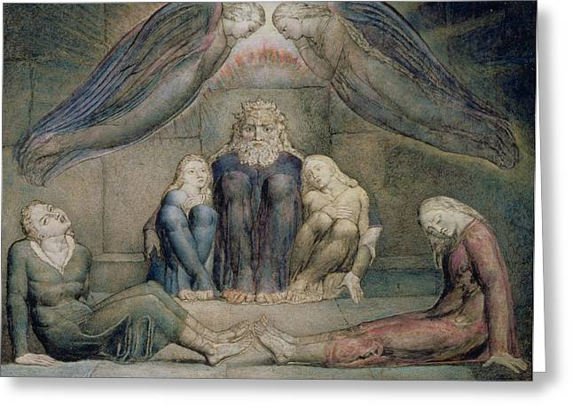 William Drawings Greeting Cards - Pd.5-1978 Count Ugolino And His Sons Greeting Card by William Blake