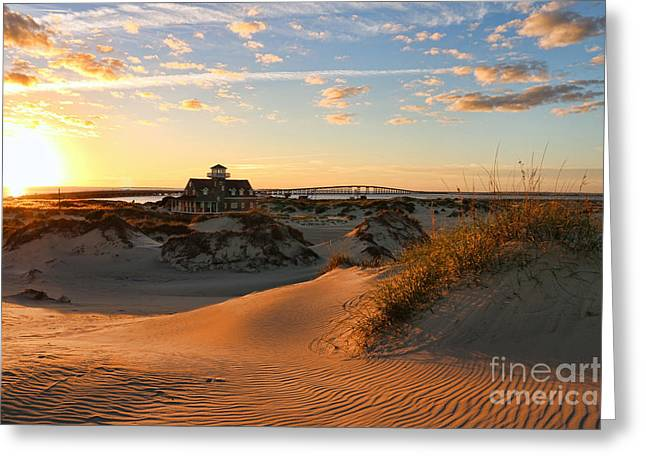 Pea Island Greeting Cards - Pea Island Life Saving Station 2672 Greeting Card by Jack Schultz