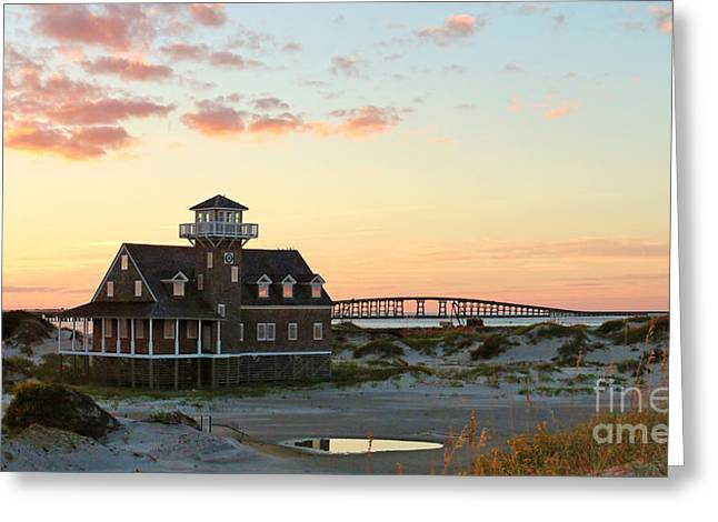 Pea Island Greeting Cards - Pea Island Life Saving Station 2686b  Greeting Card by Jack Schultz