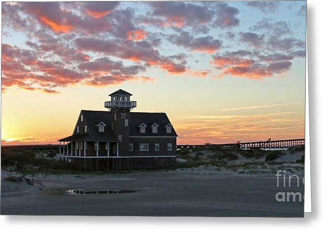 Pea Island Greeting Cards - Pea Island Life Saving Station 2693 Greeting Card by Jack Schultz