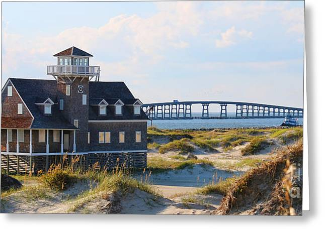 Pea Island Greeting Cards - Pea Island Life Saving Station 2994 Greeting Card by Jack Schultz