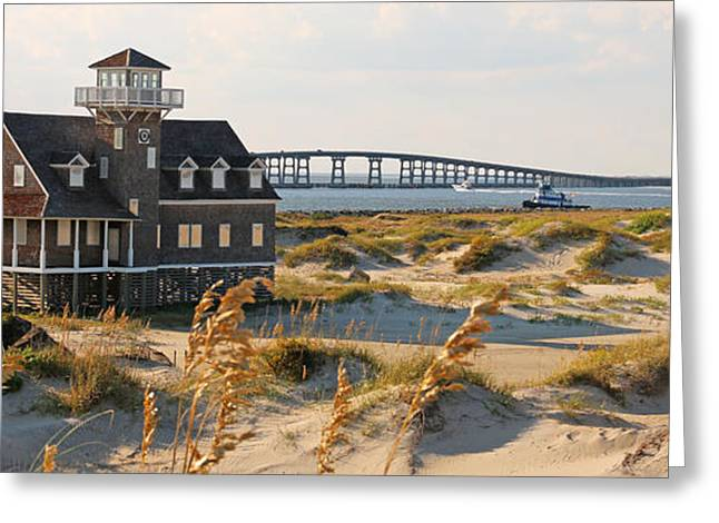 Pea Island Greeting Cards - Pea Island Life Saving Station  2997 Greeting Card by Jack Schultz