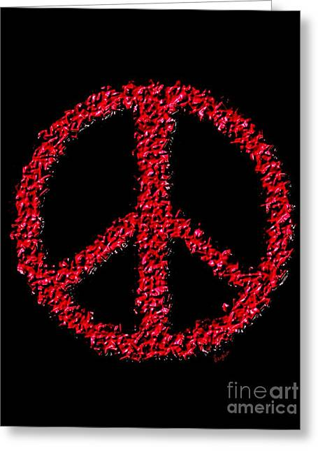 Iraq Paintings Greeting Cards - Peace ? Greeting Card by Sergio B