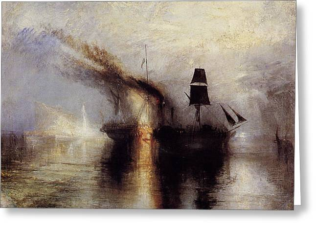 Painter Of Light Greeting Cards - Peace 1842 Greeting Card by J M W Turner
