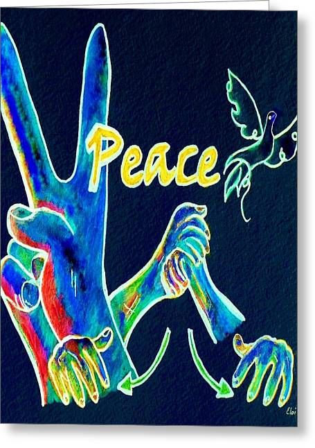Peace Symbol Greeting Cards - Peace 2 Greeting Card by Eloise Schneider