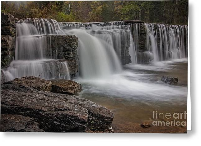 Natural Dam Arkansas Greeting Cards - Peace 3 Greeting Card by Larry McMahon