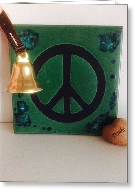 Brass Pyrography Greeting Cards - Peace and Gratitude Greeting Card by Renee Marie