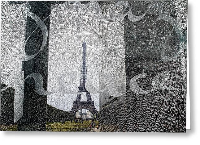 Champs Greeting Cards - Peace and Love in Paris Greeting Card by Nomad Art And  Design