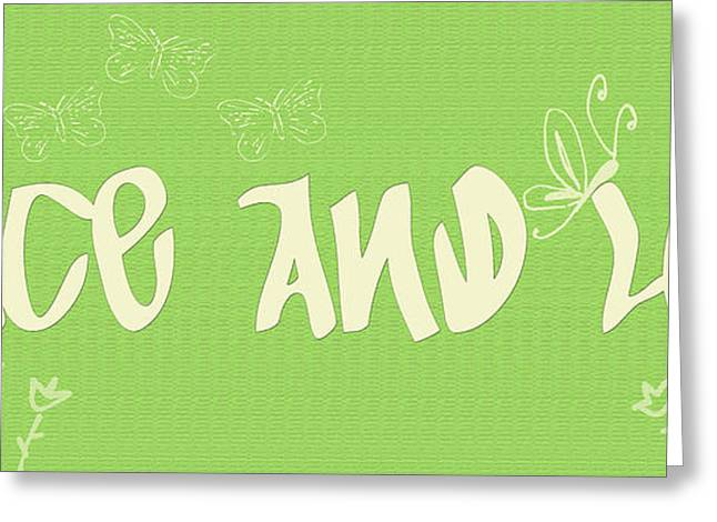 """peace And Love"" Greeting Cards - Peace and Love Greeting Card by Nomad Art And  Design"