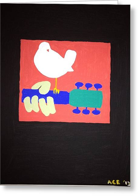 Woodstock Festival Greeting Cards - Peace and Music Greeting Card by James Osborn