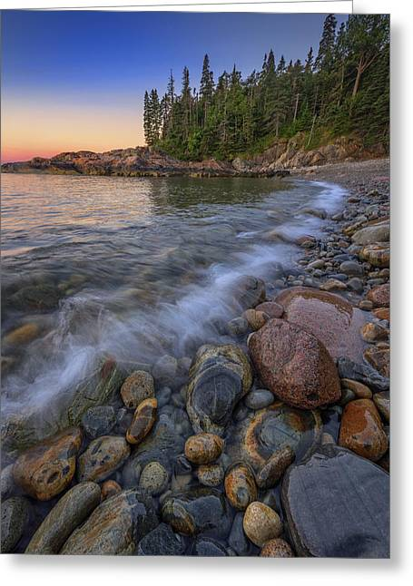 Peace And Quiet On Little Hunters Beach Greeting Card by Rick Berk