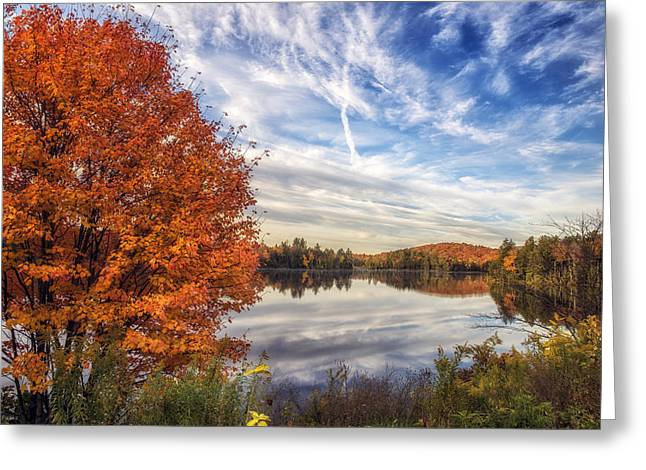 Cloud Reflections In Water Greeting Cards - Peace and Tranquility Greeting Card by Mark Papke