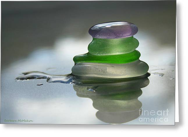 Reflection Glass Greeting Cards - Peace Greeting Card by Barbara McMahon