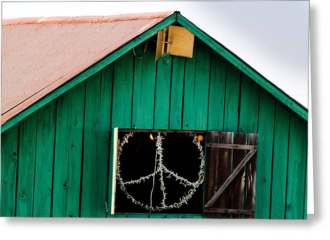 Blissfest Greeting Cards - Peace Barn Greeting Card by Bill Gallagher