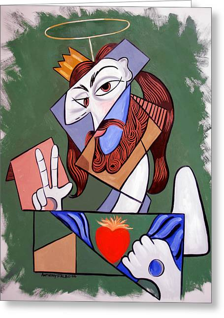 Alpha And Omega Greeting Cards - Peace Be With You Greeting Card by Anthony Falbo