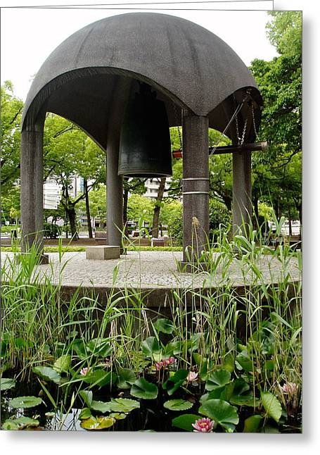 Hiroshima Peace Memorial Greeting Cards - Peace Bell Greeting Card by Duomo Photography