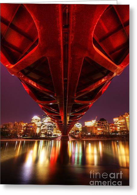 Peace Bridge 2 Greeting Card by Bob Christopher