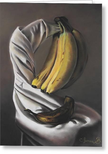 Banana Pastels Greeting Cards - Peace Greeting Card by Charles T Jones