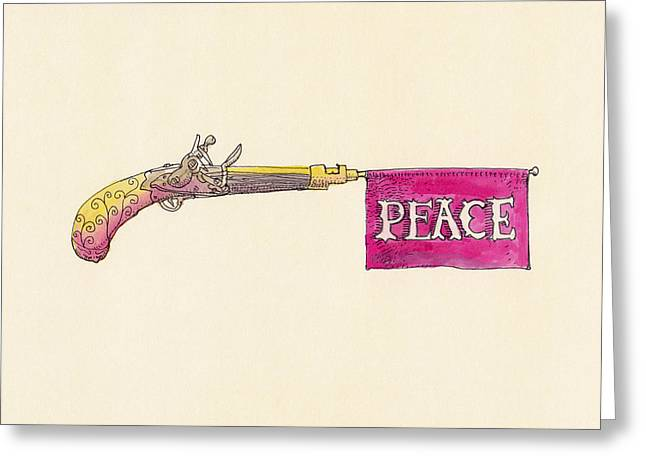 Antique Drawings Greeting Cards - Peace Greeting Card by Eric Fan