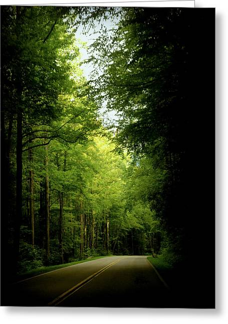 Smokey Mountain Drive Greeting Cards - Peace Found Within Greeting Card by Karen Wiles