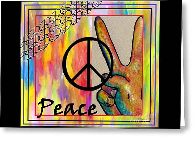 Protest Mixed Media Greeting Cards - Peace in Every Color Greeting Card by Eloise Schneider