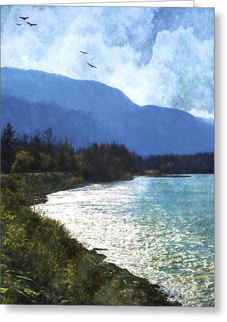 Peace In The Valley - Landscape Art Greeting Card by Jordan Blackstone