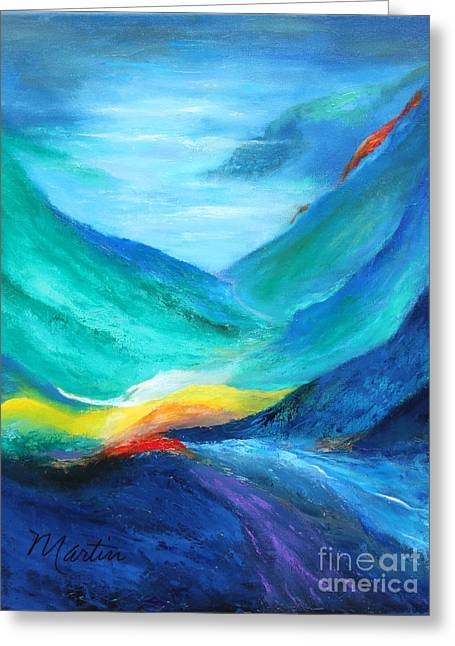 Mountain Valley Greeting Cards - Peace in the Valley Greeting Card by Larry Martin