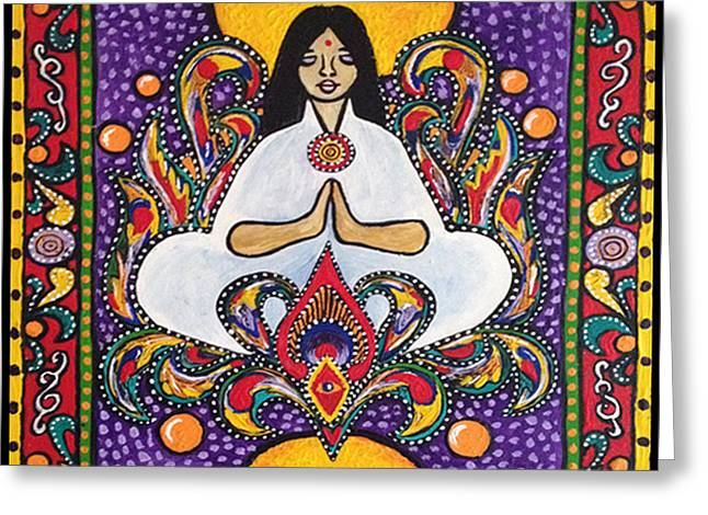 Look Within Greeting Cards - Peace is Within Greeting Card by Shelley Bredeson