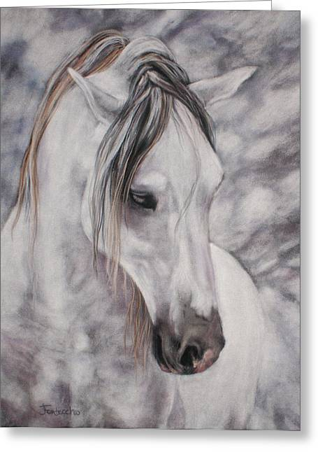 White Horse Pastels Greeting Cards - Peace Greeting Card by Jan Fontecchio