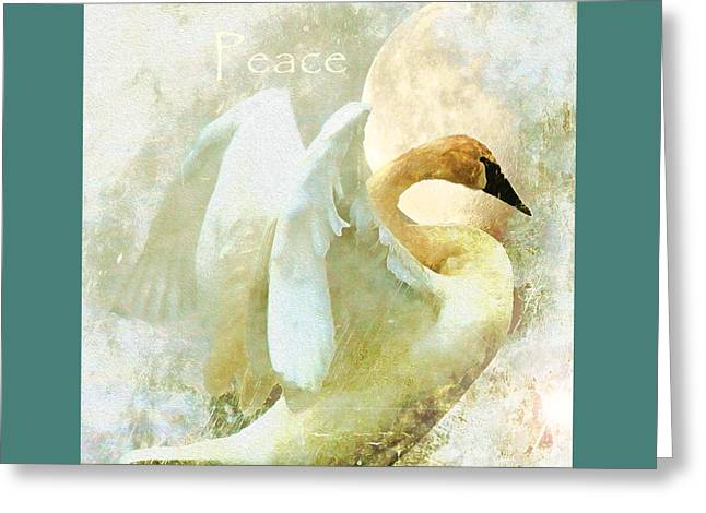 Princes Greeting Cards - Peace Greeting Card by Kathy Bassett