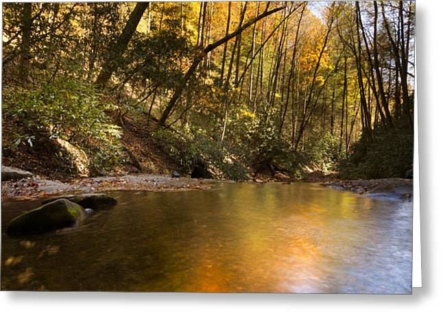 Peace Like a River Greeting Card by Debra and Dave Vanderlaan