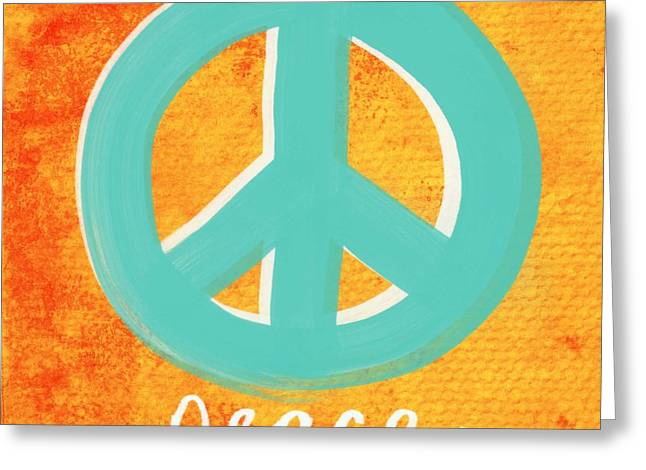 Writings Greeting Cards - Peace Greeting Card by Linda Woods