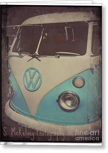 1960 Greeting Cards - Peace Love and Rock n Roll Greeting Card by Suzanne McKelvey