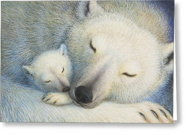 Polar Bears Greeting Cards - Peace Greeting Card by Lynn Bywaters