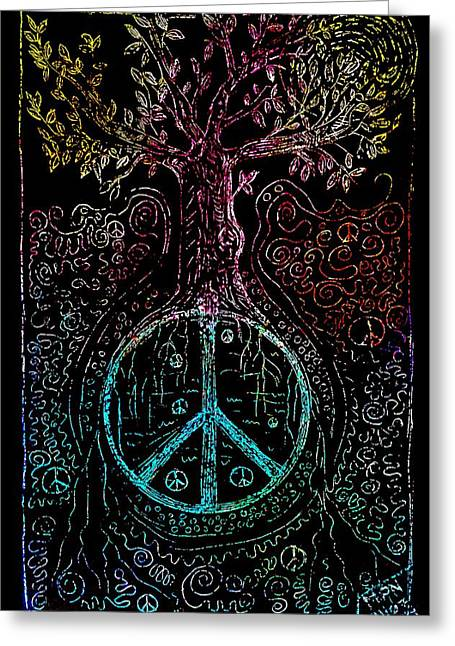 Paix Greeting Cards - Peace Greeting Card by Mimulux patricia no