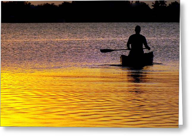 Canoeing Photographs Greeting Cards - PEACE of MIND Greeting Card by Karen Wiles