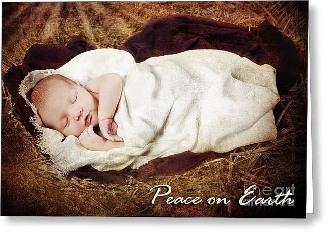 On Blanket Greeting Cards - Peace on Earth Greeting Card by Cindy Singleton
