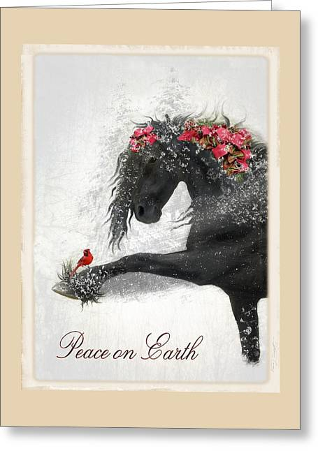 Ribbons Greeting Cards - Peace on Earth Greeting Card by Fran J Scott