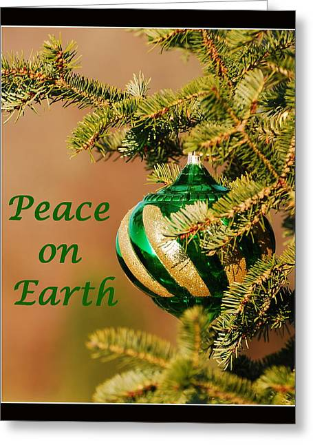 Peace On Earth Greeting Card by Francie Davis
