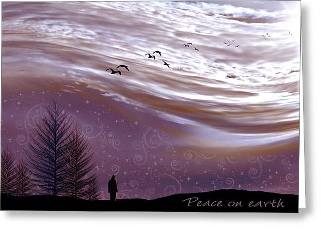 Peace On Earth Greeting Card by Holly Kempe