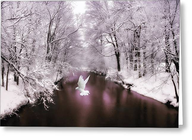 White River Greeting Cards - Peace on Earth   Greeting Card by Jessica Jenney