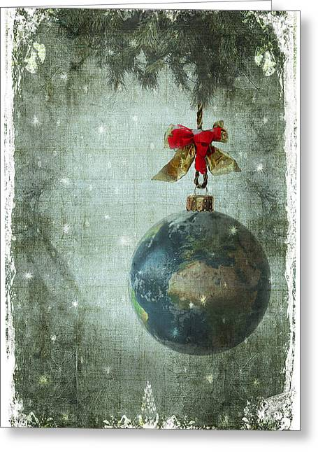 Peace On Earth Greeting Card by Marie  Gale