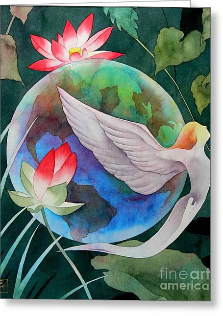 Spiritual Paintings Greeting Cards - Peace On Earth Greeting Card by Robert Hooper