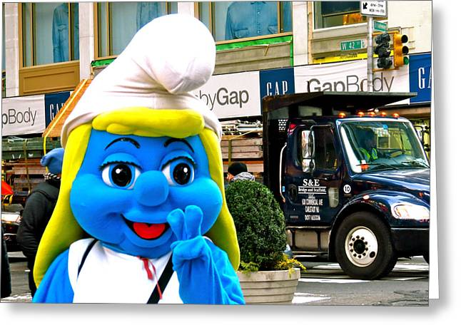 Smurfette Greeting Cards - Peace on Forty Deuce Greeting Card by Terry Wallace