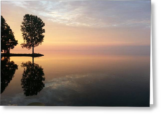 Peace On The Water Greeting Card by Jack G  Brauer