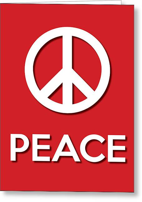 Texting Greeting Cards - Peace red Greeting Card by Splendid Notion Series