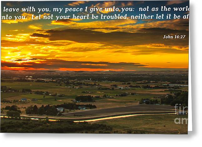 Christian Bale Greeting Cards - Peace Greeting Card by Robert Bales