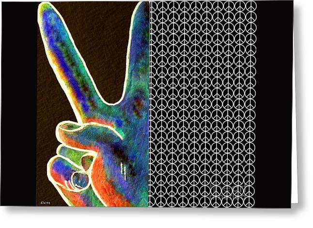 Peace Sign And Symbol Greeting Card by Eloise Schneider