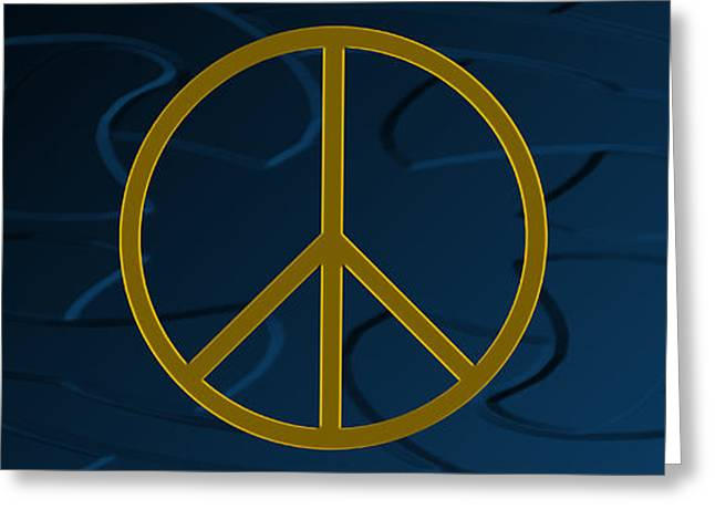 Anti Greeting Cards - Peace Sign Greeting Card by Daryl Macintyre