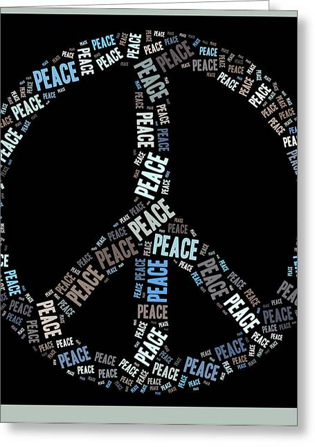Peace Symbol Greeting Cards - Peace Symbol 02 - 0102a Greeting Card by Variance Collections